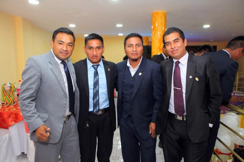 Nelson Huarayo, Ceferino Bejarano, Oscar Soto  y Vladimir Tango.