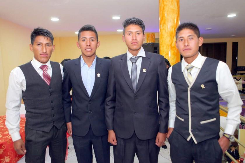 Iván Castillo, Kevin Condori, Raúl Mamani  y Jazmani Rodríguez.