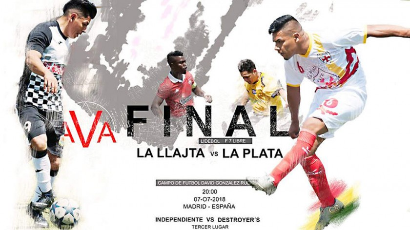 El anuncio del partido final en la página de Facebook Ava deportes.