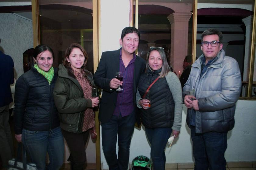 María Eugenia Raya, Verónica Andrade, Marco Prado, Norma Rojas y Sergio Bravo.