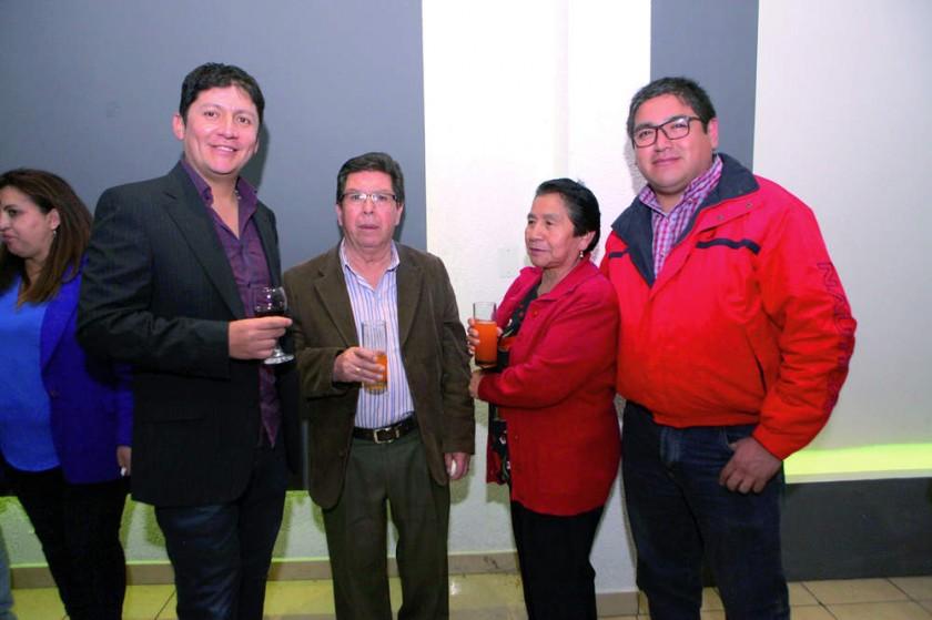 Marco Prado, Rubén Delgado, Zulema de Delgado  y Álvaro Delgado.
