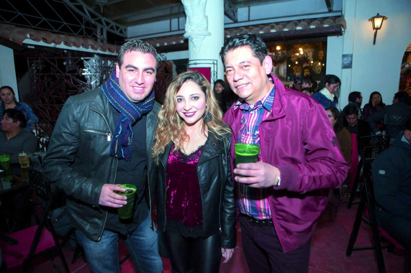 Sergio Ortubé, Danny Navas y Carlos Toledo.