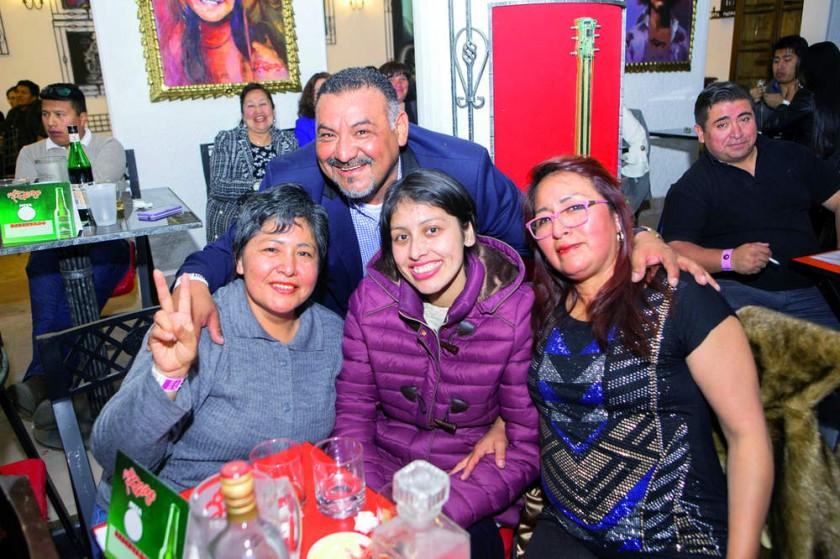 Elicia Morales, Lisandro Azurduy, Betzi Abayo y Betty Maturano
