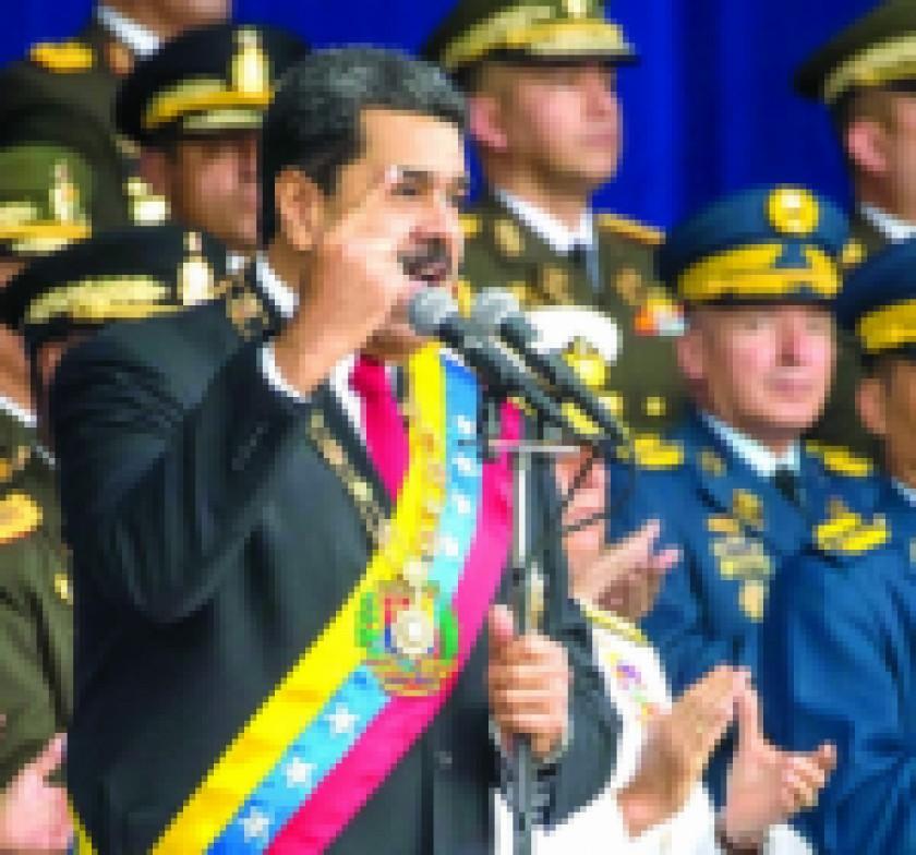 Nicolás Maduro  denuncia intento de magnicidio y apunta a Santos
