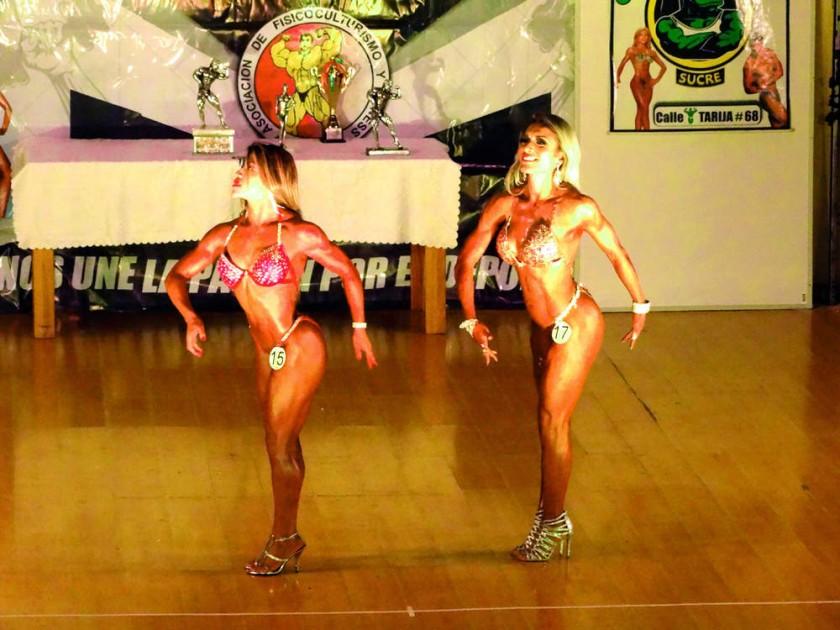 La final de la categoría Body Fitness, que se definió entre Jhanet Palacios y Mónica Arenas.