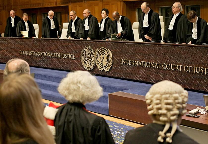 El alto tribunal de justicia internacional que ya delibera el fallo en el litigio marítimo.