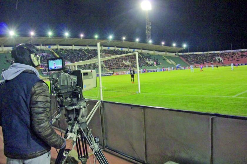 El partido de anoche fue televisado para todo el país.