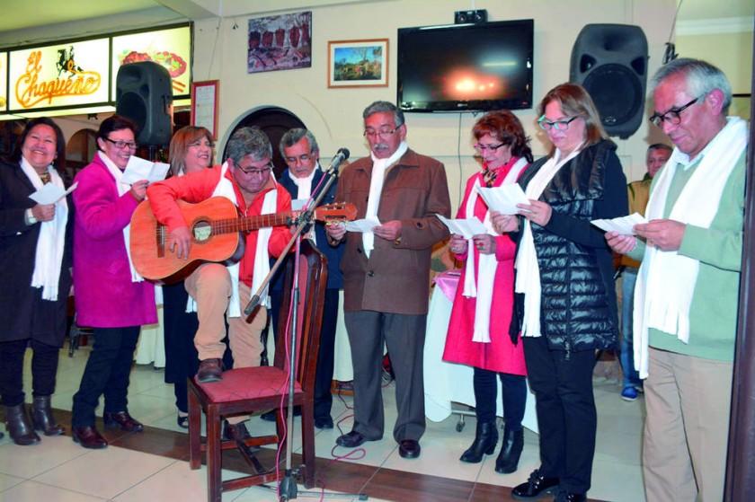 Estreno de la canción Los Muchachos de mi Barrio, Ruth Pérez, Ely Alarcón,  Anto Gamarra, Jorge García, Carlos Taborga,