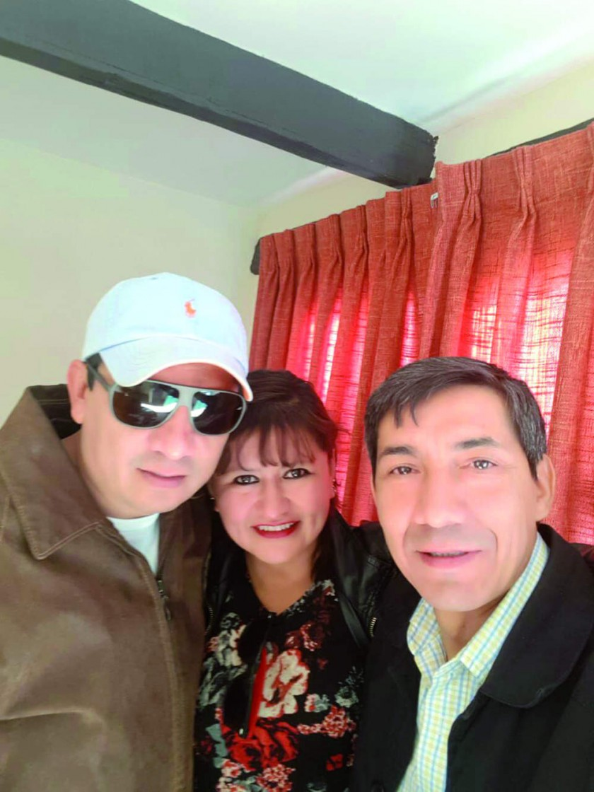 Julian Nazrala,  Mariela Zamora y Said Serrano.