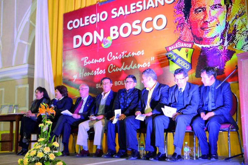 Autoridades del colegio Don Bosco.