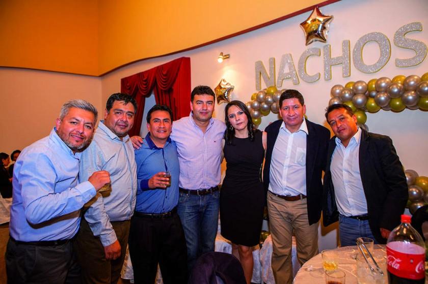 Elías Cuéllar, Gerson Orellana, Pablo Calvimontes, Hernán Rojas, Valeria Ferreira, Levi Romay y Miguel Salas.