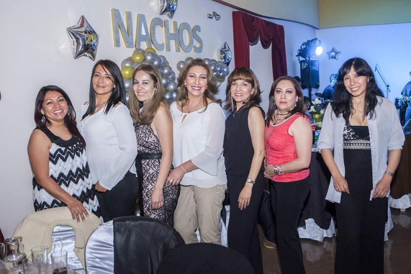 Elizabeth Caballero, Dunia Cuéllar, Susana Chávez, Karina Murillo, Claudia Vaca, Yulenka Caballero y Elena Pérez.