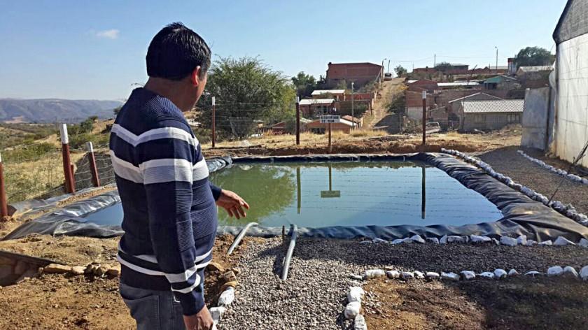 CENTRO.  Un reservorio de agua, carpas solares y tecnología avanzada hacen al centro experimental que ya dio sus...