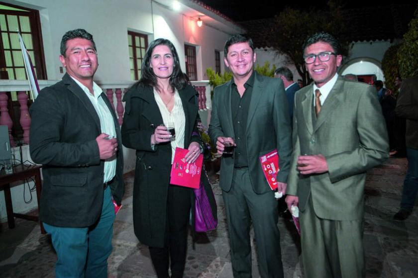 Freddy Mercado, Liz Rojas, Marco Prado y Eddy Flores.