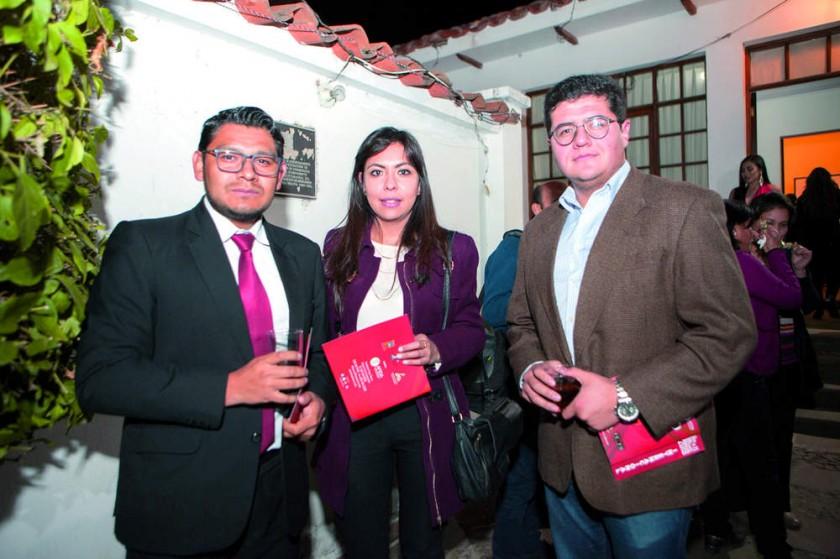 Renato Romero, Paola Mercado y Sergio Coronado.