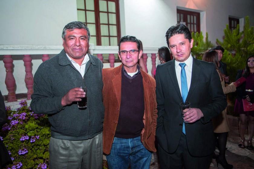 Marcel Orgáz, José Arciénega y Gastón Serrano.