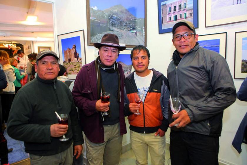 Mario Ríos, Edwin Lambertín, Apolinar Choque  y Adhemar Rodríguez.