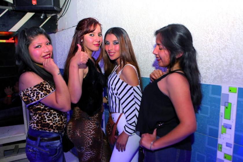 Joselyn, Mikaela, Yéssica y Darinka.