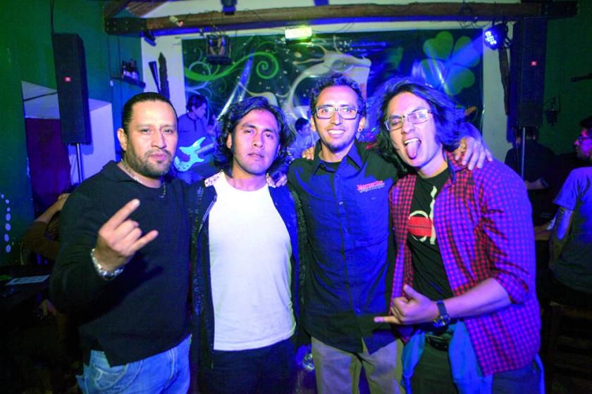 Renato Valda, Israel Navia, Gonzalo Pardo  y Alejandro Zelaya.