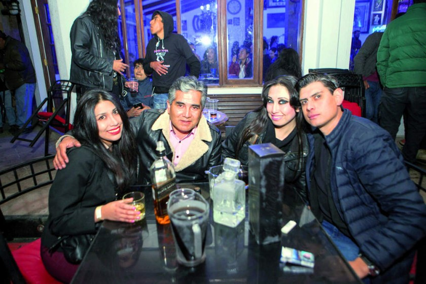 Luciana Carvajal, Jaime Mancilla, Valeska Llano y Sergio Ybarnegaray.