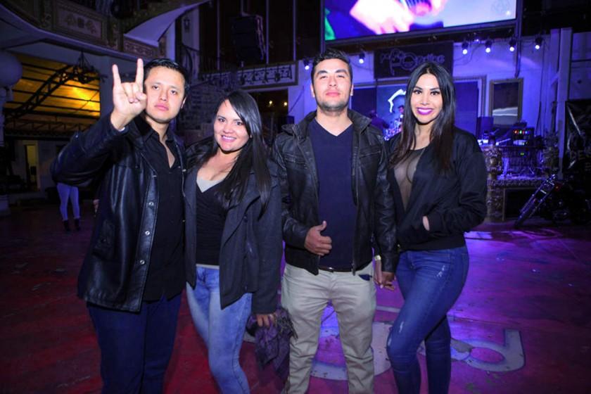 Fernando Aarón, Viviana Rosado, Rodrigo Cortez y Nicole León.