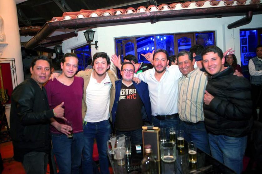 David, Nicolás, Jesús, Cristian, Rodrigo, Andrés y Agustín