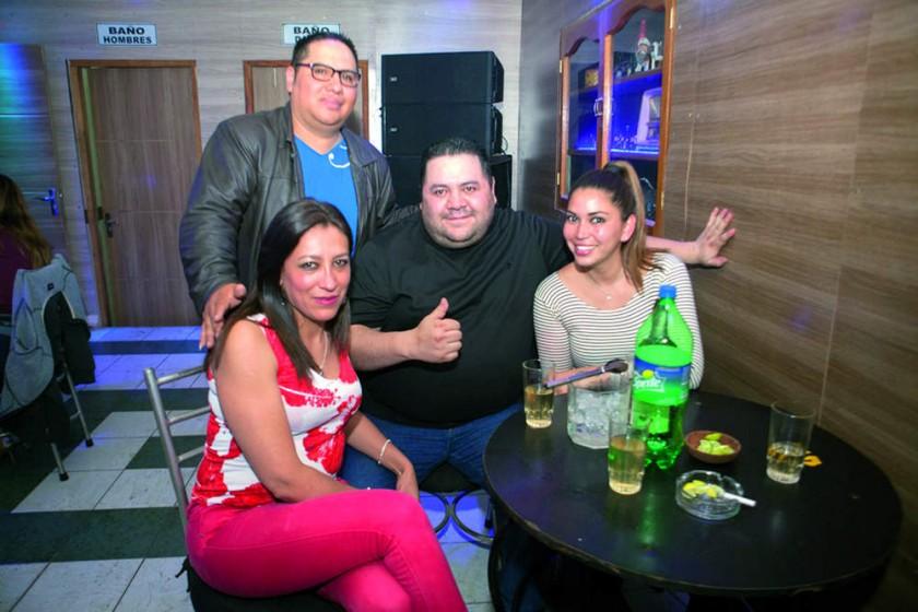 Verónica Carvallo, Marco Rodríguez, Leevang Avila y Yoselin Céspedes.