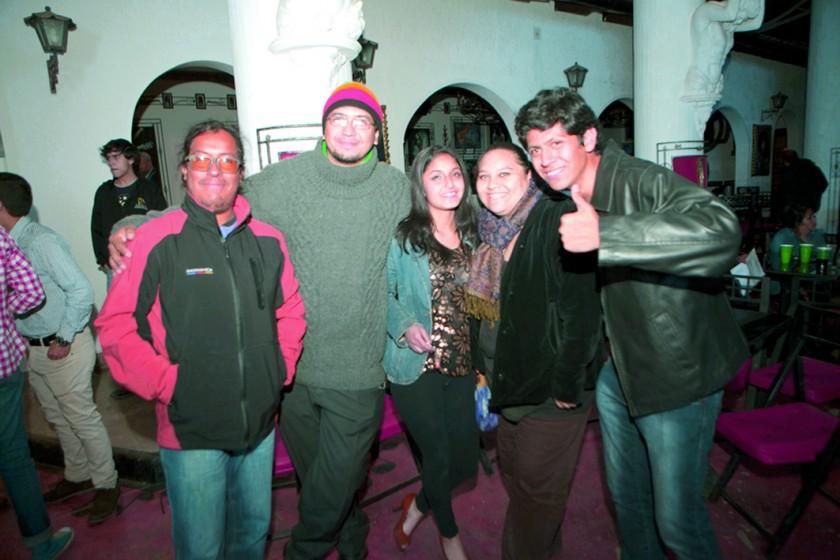 Henrry Miranda, Miguel Escobar, Abigail Morales, Carla Arancibia y Joaquín Saavedra.