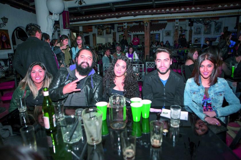 Anahí, Samuel, Natalie, Cristian y Grecia.
