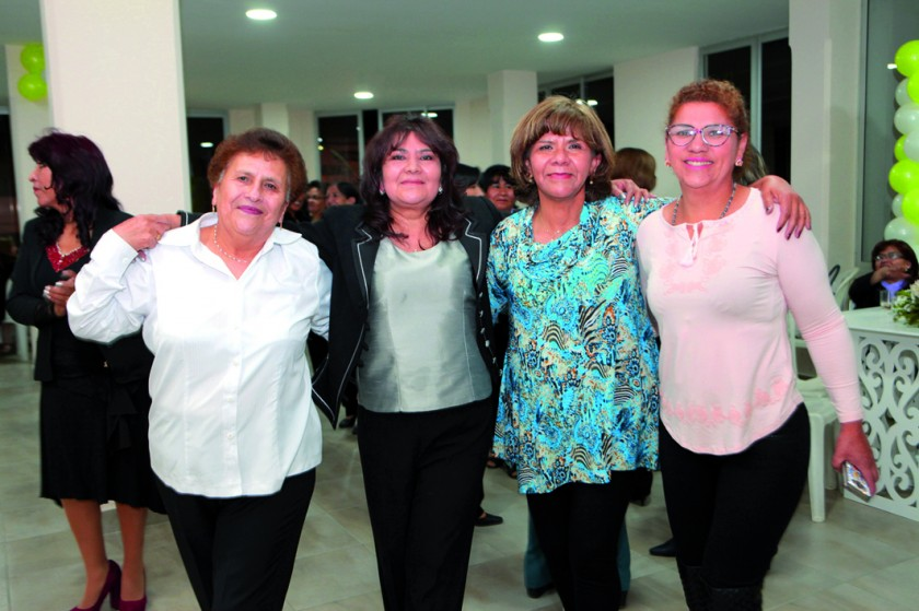 Carmen Aldana, Carmiña Echalar, Silvia Belén y Melina Vega.