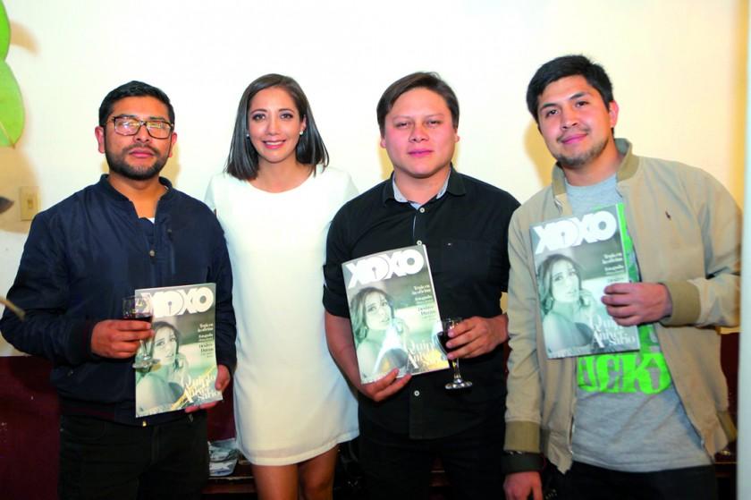 Ariel Cervantes, Erika Pino, Mauricio Durán y Jorge Ferrufino.