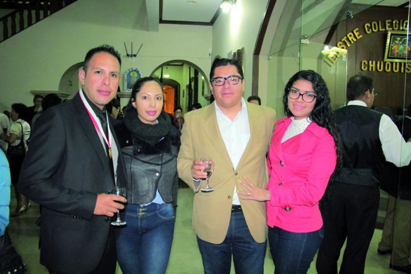 Guido Reyez, Ana Rojas, Ariel Coronado y Lirio Betancourt.