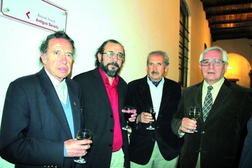 Edmundo Zelada, Joaquín Loayza, Pastor Sainz y Saúl León.
