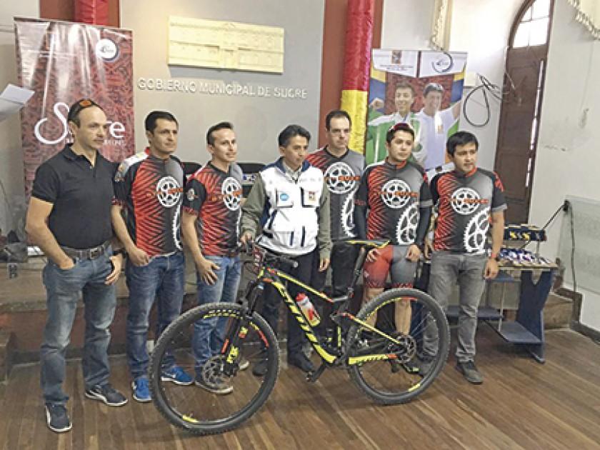 Ayer se presentó la competencia ciclística en las oficinas de la Alcaldía.