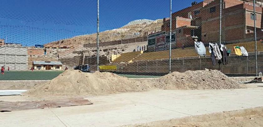 Algunas fotografías del estado actual del estadio Mainners de Potosí, donde Independiente no quiso jugar por falta de co