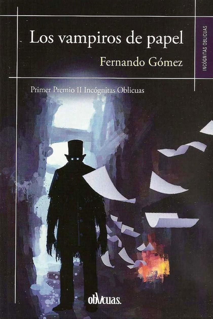 """Portada del libro """"Los vampiros de papel"""", de Fernando Gómez."""