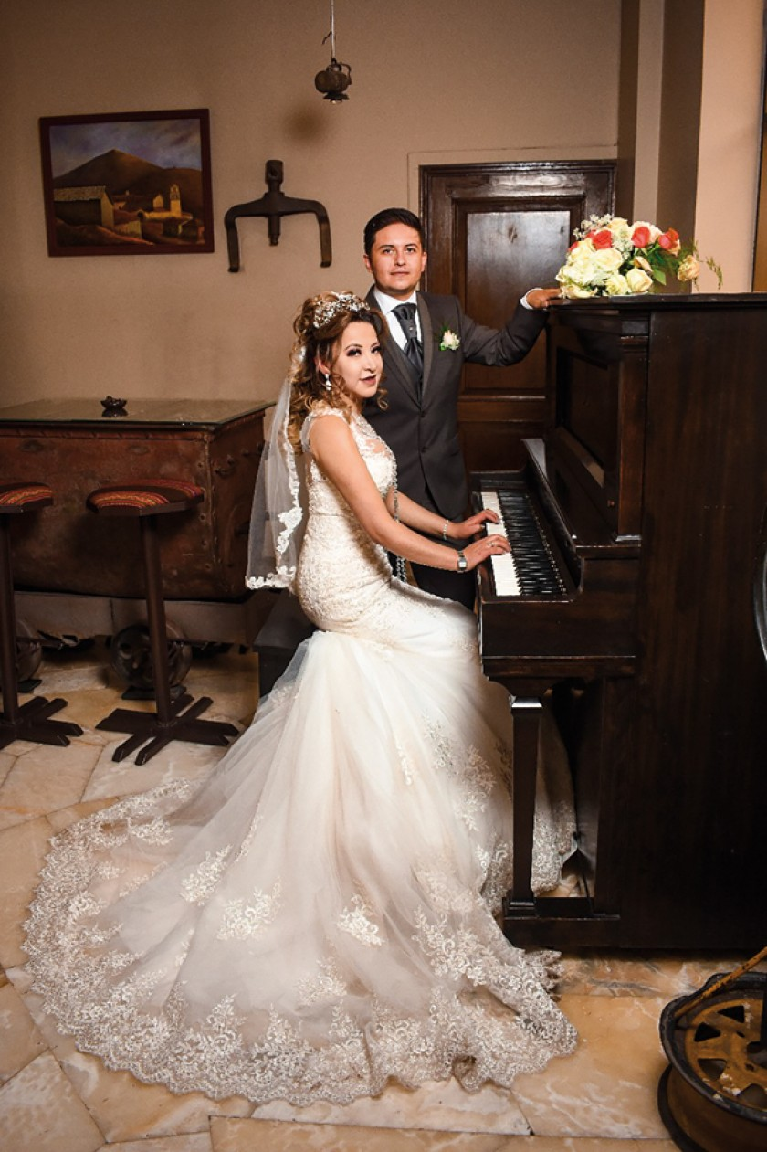 Los novios, Lizbeth Molina Subieta y Rodrigo Arce Pedrazas