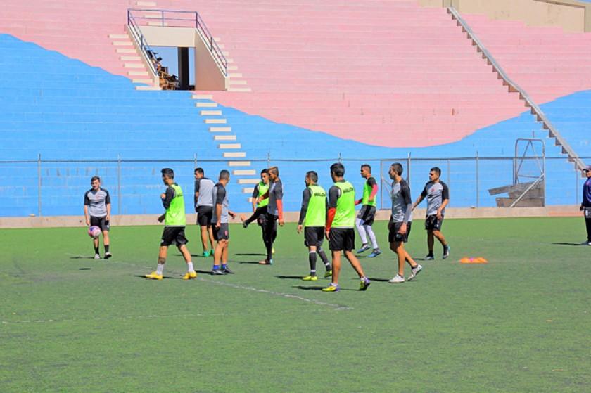 El equipo tuvo una sesión de gimnasio y posteriormente terminó de entrenar la parte física en el ex Seminario.