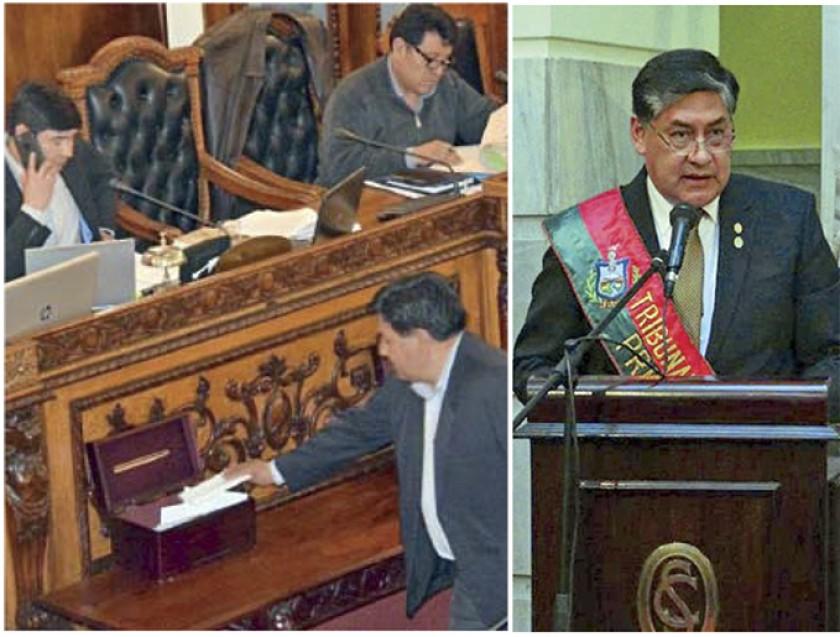 SESIÓN. La Asamblea Legislativa con mayoría oficialista elegió a Juan Lanchipa como nuevo Fiscal.