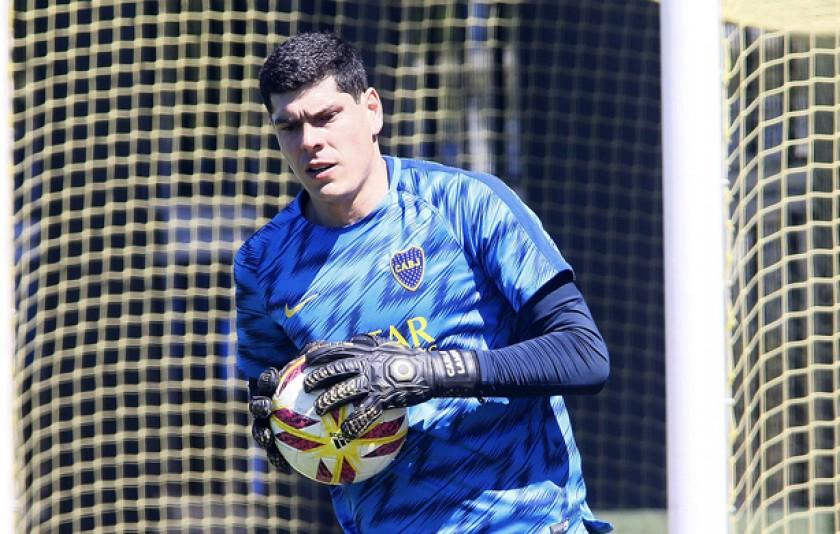 La primera práctica de Carlos Lampe en Boca Juniors