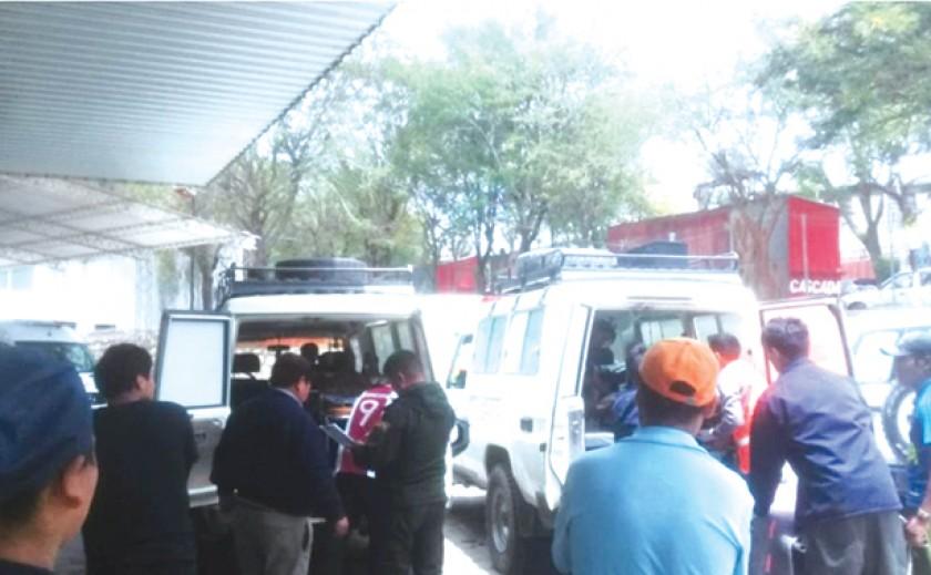 Los heridos reciben atención médica en dos hospitales de Camargo y Tarija.