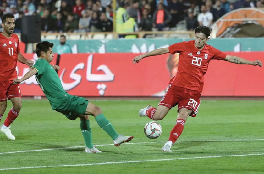 Bolivia que llegaba de ganar 0-3 a Birmania, ayer no pudo ante la mundialista Irán y cayó 2-1.