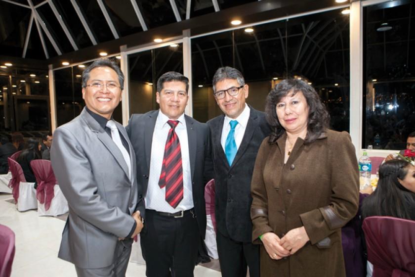 Víctor Rojas, Ronald Bedoya, Ricardo Vargas y Roxana Lastra.