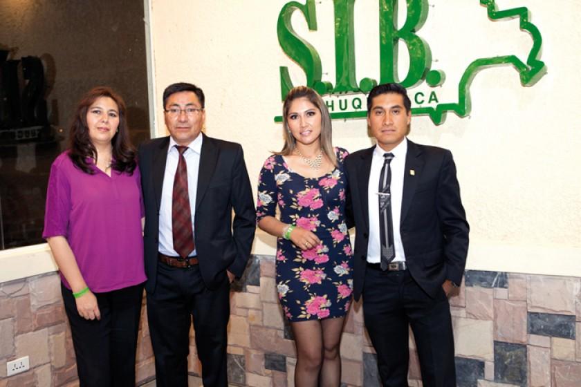 Patricia Mendoza, Jaime Ruiz, Pamela Oña y Marco Cruz.