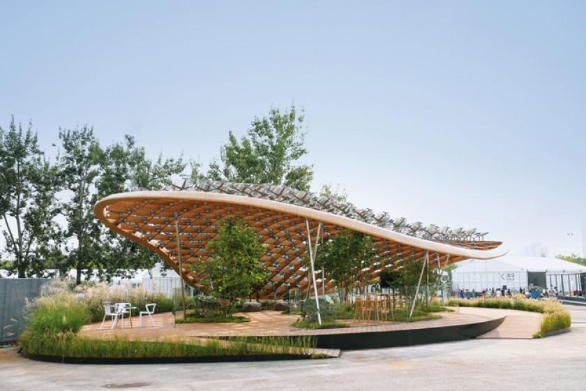 """La casa """"Jardín viviente' expuesta en la exposición House Vision en Pekín (China)."""