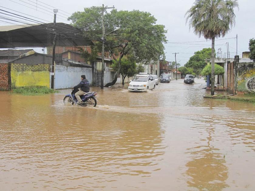 TEMPORAL. Las precipitaciones pluviales en Trinidad generan alarma constante en la población.