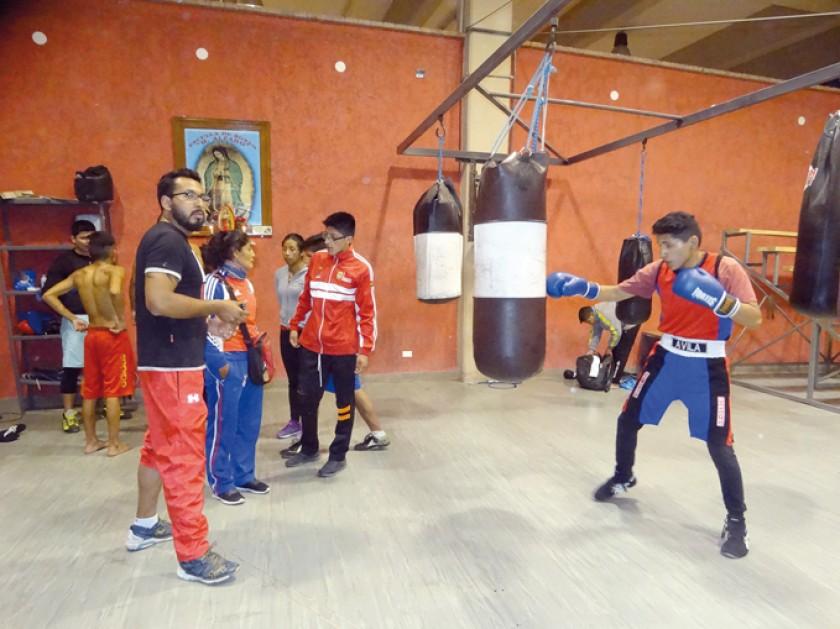 Entrenamiento previo al campeonato nacional de boxeo que arranca hoy en la Capital.