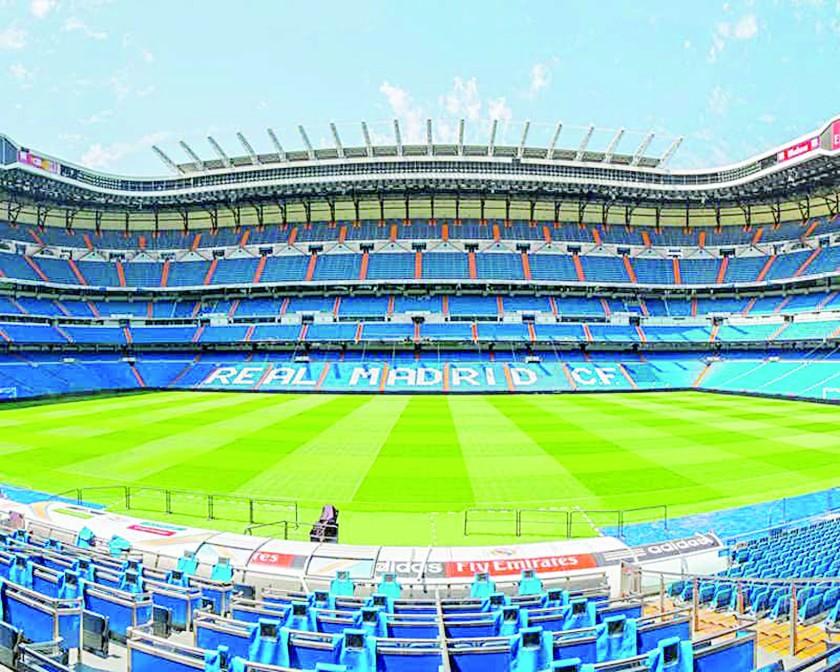 El estadio Santiago Bernabéu.