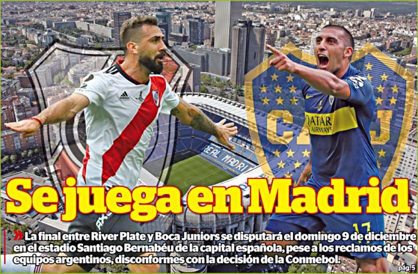 Final de la Copa se va a Madrid, pero Boca y River insisten y apelan