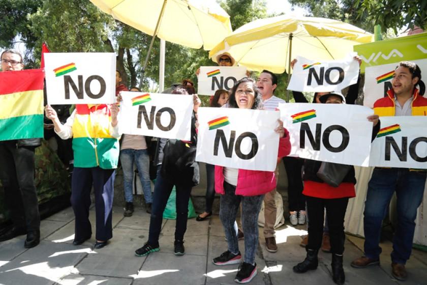 Una manifestación ciudadana en La Paz.